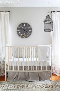 nursery with birdcage above crib   maisondepax.com