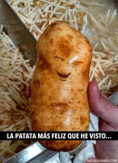La patata más feliz.