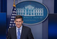 U.S. national security adviser Mike Flynn speaks during the daily press briefing at the White...