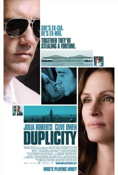 Duplicity stars Clive Owen and Julia Roberts. Clive Owen, Julia Roberts, Streaming Hd, Streaming Movies, Alfred Hitchcock, Preston, All About Steve, Michael Clayton, Movies