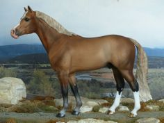 CM PAINTED BREYER RAVEL HORSE PAINTED TO A GOLDEN BAY SILVER DAPPLE