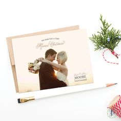 Very Married Christmas  Newlywed Holiday by BellaCartaBoutique