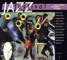 2002 Jazz Festival Vol.1: New Orleans [Warner 5050466031327] cover painting by Alice Choné #albumcover