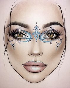 Best Picture For Makeup Art eyeshadow For Your Taste You are looking for something, and it is going to tell … Makeup Inspo, Makeup Inspiration, Makeup Ideas, Mac Face Charts, Graphic Makeup, Lime Crime Makeup, Makeup Face Charts, Makeup Drawing, Makeup Portfolio