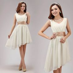 Aliexpress.com :  girl's chiffon short Bridesmaid Dress party dress 76 from Reliable party dress short dresses suppliers on fashiondress $43.80