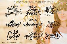 Photo Overlays - Portraits by ClickandBlossom on Creative Market