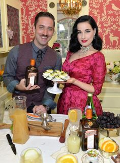 Throwing a party Dita-style. Don't forget the deviled eggs.