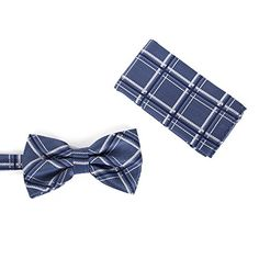a8d4a6f6078a Brand Q Mens Bow Tie with Hanky Turquoise/Black at Amazon Men's Clothing  store: Fashion Brands, Blue And White