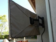 Patio Tv Covers - Verandas are extremely common in most homes in the U. For entertainment purposes, there's likely no bett Outdoor Tv Covers, Backyard, Patio, Messenger Bag, Deck, Outdoor Decor, Decor Ideas, Pool Ideas, Flat Screen