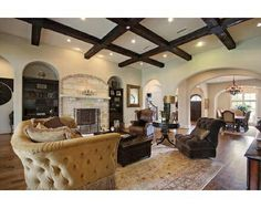 Wood Beams in Living Room