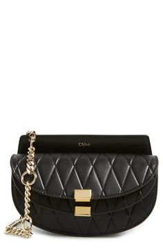 7e4a0c99990a Chloé  Nano Georgia  Embossed Calfskin Leather Fanny Pack available at   Nordstrom Leather Fanny