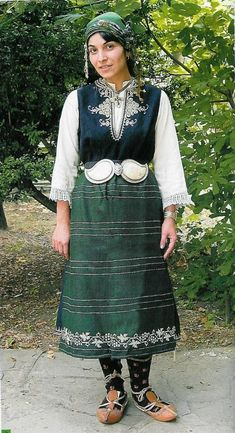 Woman's costume, early 20th century, the village of Goliamo Konare ((today the town of Saedinenie), Plovdiv region