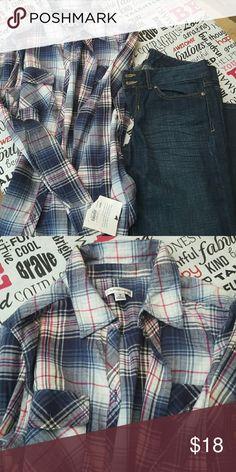 Button down shirt Bundle and save,  Gap jeans and shirt ( new ❤) Croft & Barrow Tops Button Down Shirts