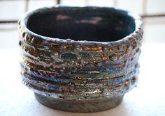 Raku ceramic bowl