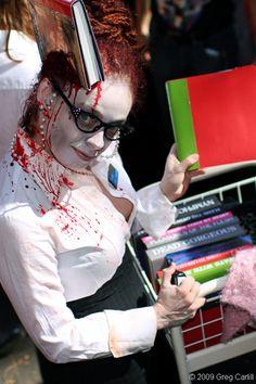 librarian zombie - love it!  great costume idea