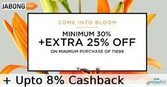 Get min 30% off  extra 25% off on men & women fashion clothing footwear & accessories @jabongindia  get upto 8% extra cashback from us >> http://ift.tt/21Mhdze  #fashion #clothing #accessories #footwear #jabong #cashback #cashbackoffers