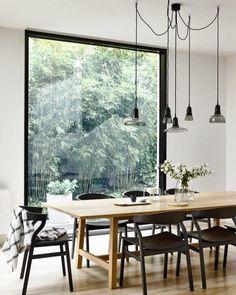 #Diningroom #Window #NaturalLighting #Lamps #Wood // Hi Friends...