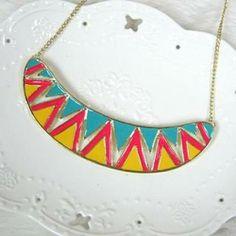 Short Necklace Multicolor - One Size