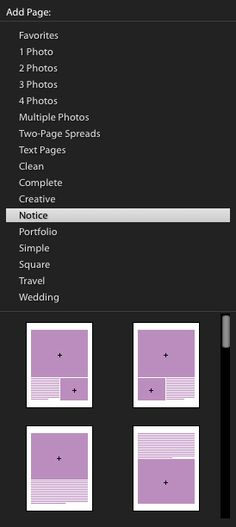 Lightroom Book Page Templates