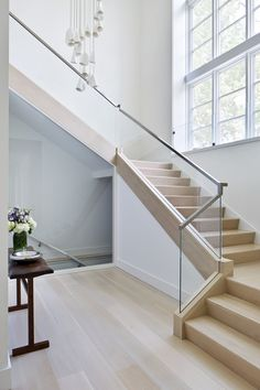 Contemporary Steel & glass staircase Staircase Contemporary by Alisberg Parker A Modern Staircase Alisberg Contemporary Glass Parker Staircase steel Glass Stairs Design, Home Stairs Design, Interior Stairs, Stairs With Glass, Modern Stair Railing, Stair Railing Design, Modern Stairs, Glass Handrail, Glass Stair Railing