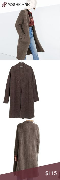 Madewell Fulton Sweater Coat NWT. Size XS. Color is Heathered Mink. Madewell Sweaters