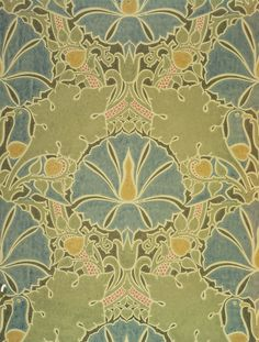 'The Saladin', wallpaper, Charles F.A. Voysey, about 1897. Museum no. CIRC.261-1953