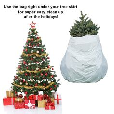 Pursell 2 Pack Christmas Tree Storage Removal Bag 2in1 Holiday CleanUp Recyclable Biodegradable Cover -- Want additional info? Click on the image. (Note:Amazon affiliate link) #christmastreestoragebag Christmas Tree Storage Bag, Bag Storage, Biodegradable Products, Recycling, Note, Amazon, Holiday Decor, Link, Bags