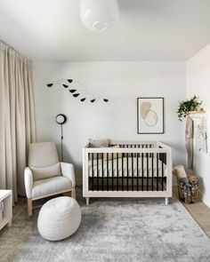 #ad Modern minimal gender-neutral nursery with @CrateandKids #CrateKidsStyle
