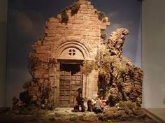 pinned this and it is a great inspiration piece for my Halloween village. Diy Nativity, Christmas Nativity Scene, Christmas Fun, Christmas Decorations, Halloween Village, Fairy Houses, Cross Stitch Designs, Water Features, Scale Models