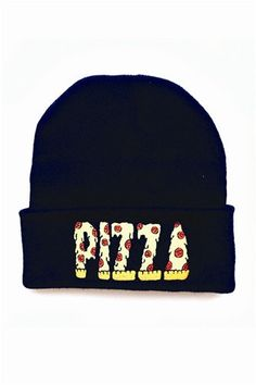 Pizza Cuffed Knit Beanie http://shop.nylon.com/collections/whats-new/products/pizza-cuffed-knit-beanie #NYLONshop
