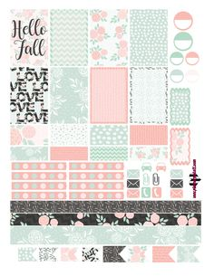 FREE @planner.PICKETT: Hello Fall Floral Free Planner Sticker Printable