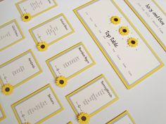 Sunflower Wedding Table Plan www.ohsopurrfect.co.uk