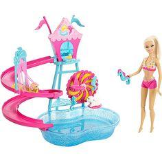 Barbie Puppy Park Water Park Playset
