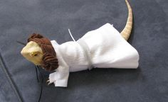 Handmade Felt Bearded Dragon Princess Leia by BeardiesNeedBlankies, $8.00