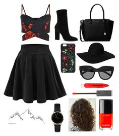 Red and black by mageenley on Polyvore featuring polyvore, fashion, style, Alexander Wang, MICHAEL Michael Kors, Freedom To Exist, Monki, Dolce&Gabbana, Le Specs, Burberry, Chanel and clothing