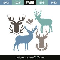 *** FREE SVG CUT FILE for Cricut, Silhouette and more *** Deers