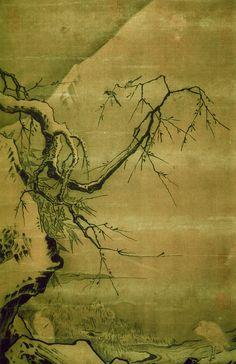 南宋马远《雪滩双鹭图》绢本设色59x38台北故宫