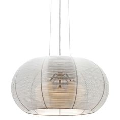 For a sculptural design evoking an organic aesthetic, opt for the Santana Pendant Light from Cougar Lighting.