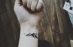 #mountains #tattoo #wrist