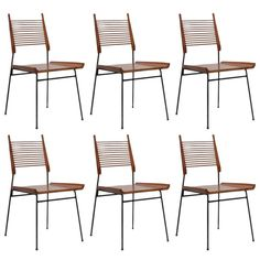 Six Paul McCobb Ladder or Shovel Chairs for Winchendon Dining Chairs   1stdibs.com