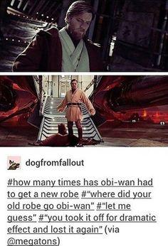 Obi-Wan was the Jedi Order's Quartermaster's worst nightmare.