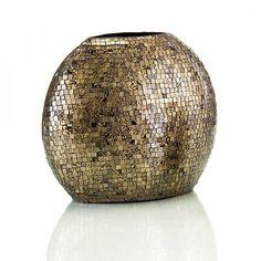 Tiger Gls Mosaic Ovoid Vase Lg  SKU: JRA-8214