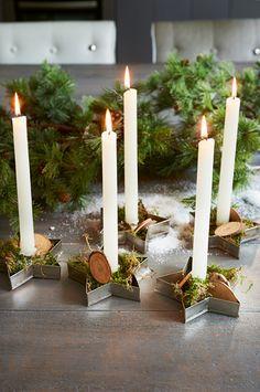 Kerzen in Ausstechformen...