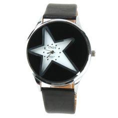 YESURPRISE Fashion Leder fünfzackigen Stern Armbanduhr Quarzuhr Damen Uhr Geschenk Mode Gift Watch B2 - http://besteckkaufen.com/yesurprise/yesurprise-fashion-leder-fuenfzackigen-stern-b2