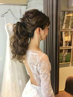本日のBridal Ayaka/miavia - ブライダルページ I Like Your Hair, How To Make Hair, Wedding Dress Styles, Bride Hairstyles, Wedding Trends, Bridal Style, Fashion Photo, Ayaka, Hair Styles