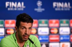 In this handout image provided by UEFA, Gianluigi Buffon of Juventus talks during a Juventus press conference on the eve of the UEFA Champions League Final match against FC Barcelona at Olympiastadion on June 5, 2015 in Berlin, Germany.