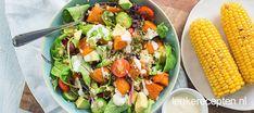 Mexicaanse zoete aardappel salade - Leuke recepten A Food, Good Food, Cobb Salad, Food Inspiration, Quinoa, Salads, Bbq, Pasta, Lunch