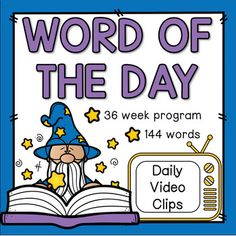 Word of the DayI created this product to use in my own classroom. Links to video clips from a popular children's television show help introduce each word in a fun and engaging way! It is designed so that four words are covered each week (with review on Fridays). It covers 36 weeks for a total of ...