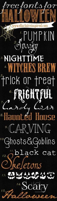 Free Fonts For Halloween