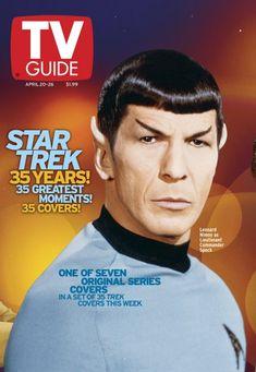 TV Guide April 2002 of - Leonard Nimoy of Star Trek Star Trek Original Series, Star Trek Series, Tv Series, Star Trek Tv, Star Wars, Akira, Star Trek Characters, Starship Enterprise, 35th Anniversary